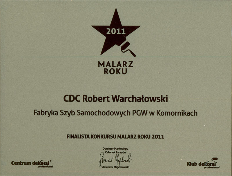 "Nagroda ""Malarz roku 2011"""